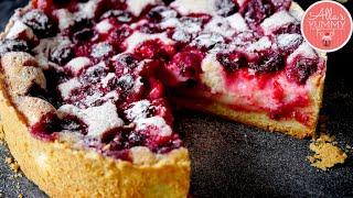 Russian Sour Cream Cherry Pie Recipe | Best Cherry Custard Pie