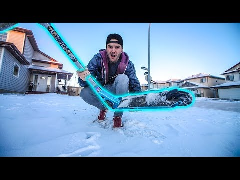 SCOOTER FROZEN IN SNOW! *SCOOTER RUINED*