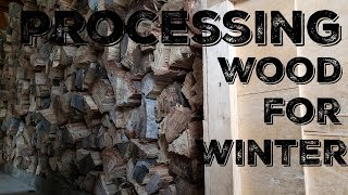 Farm Days - Splitting and Storing Wood For Winter