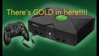 Scrapping an XBOX for aluminum and FREE GOLD!! -Moose Scrapper #279