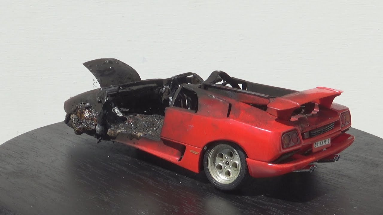 My Wrecked Model Car Collection || Scrapyard Model Cars