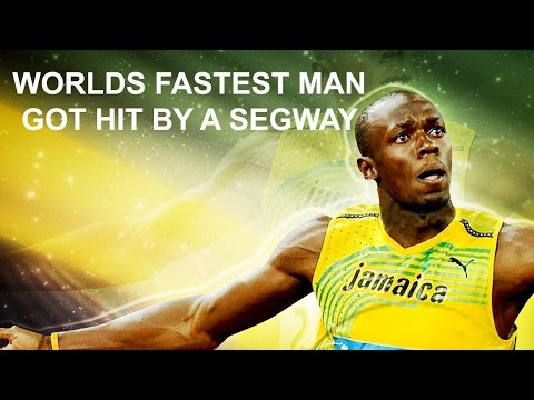 The fastest man on the planet usain bolt got hit by a segway