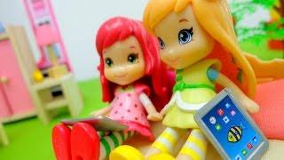 Видео для девочек.  Лимоша и Земляничка убирают комнату