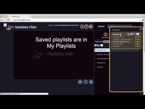 Tanningfish: Creating Video Playlists