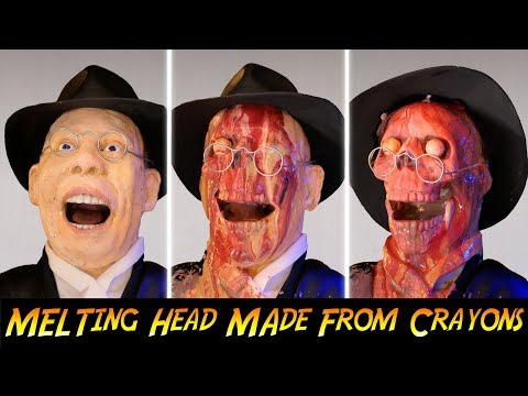 Indiana Jones Face Melt Effect Made With Crayons
