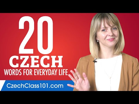 20 Czech Words for Everyday Life - Basic Vocabulary #1