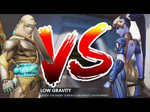OVERWATCH BOYS VS GIRLS LOW GRAVITY CUSTOM GAME!!