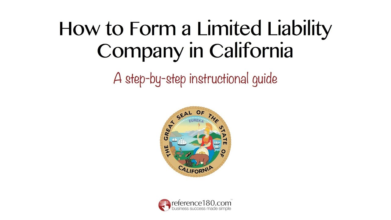 How to Form an LLC in California - YouTube
