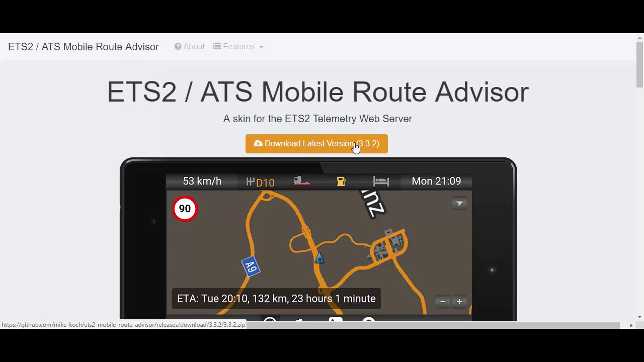 ets2 telemetry and gps HUN