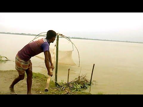 Traditional Net Fishing In River। Fishing By True Gain