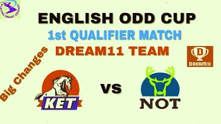 KET vs NOT First Qualifier Match Dream11 Team || NOT vs KET || Kent vs Nottinghamshire ||