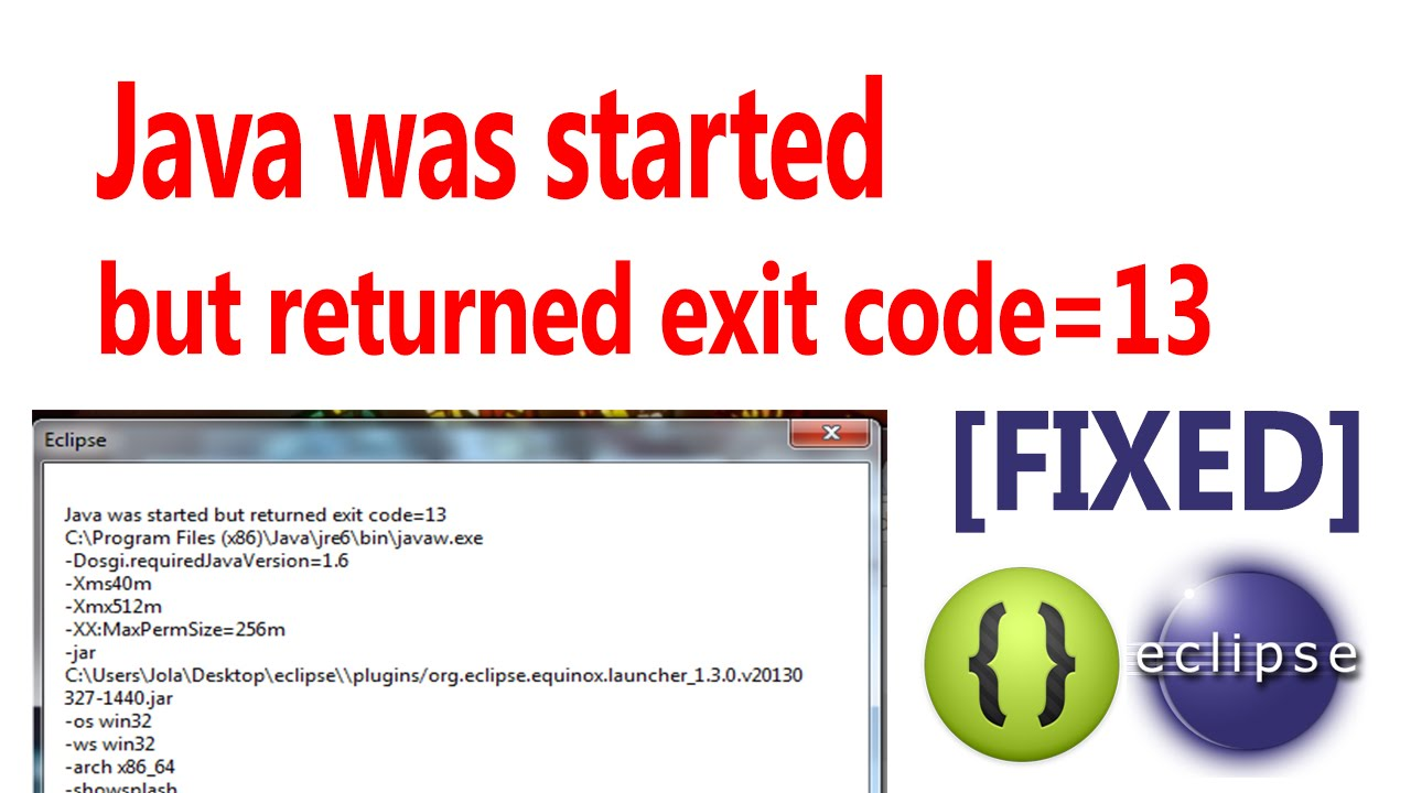 Java was started but returned exit code\u003d13 [FIXED] - YouTube
