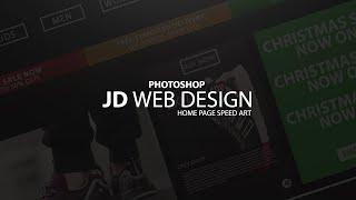 Photoshop JD Home Page Redesign Speedart