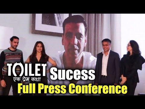 Toilet Ek Prem Katha की Success Press Conference - Akshay Kumar, Bhumi Pednekar