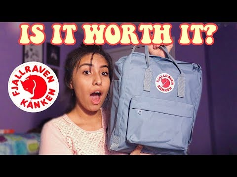 what actually fits in a fjallraven kanken backpack | review