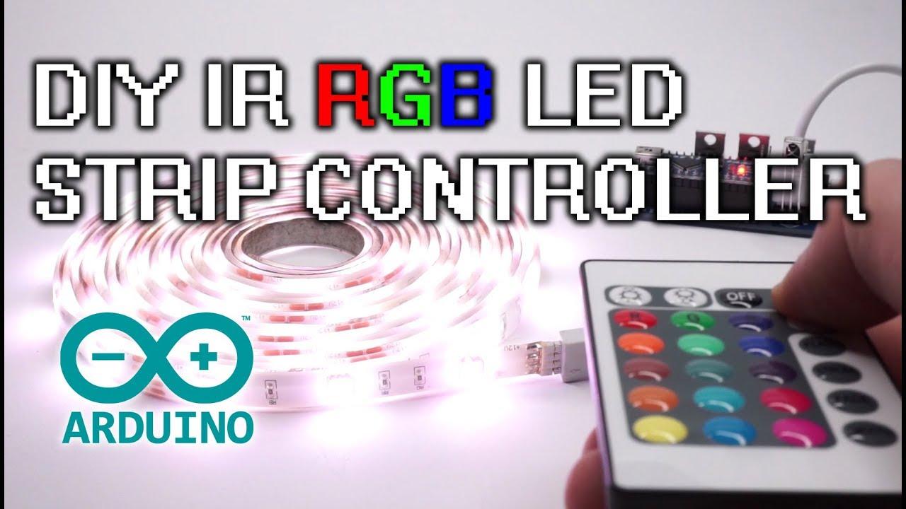 DIY Arduino RGB 12V LED Strip IR Controller PCB Design, build, soldering,  programming guide