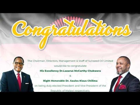 BREAKING NEWS!! Lazarus Chakwera Declared President Of Malaw
