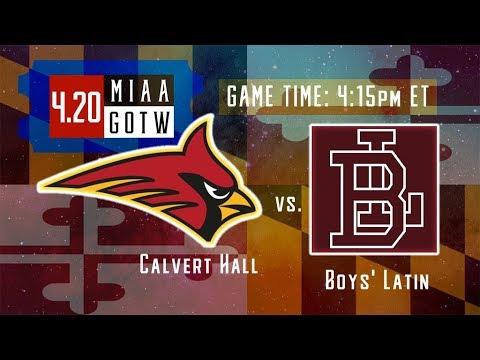 Calvert Hall vs Boys Latin | MIAA Lacrosse Game of the Week