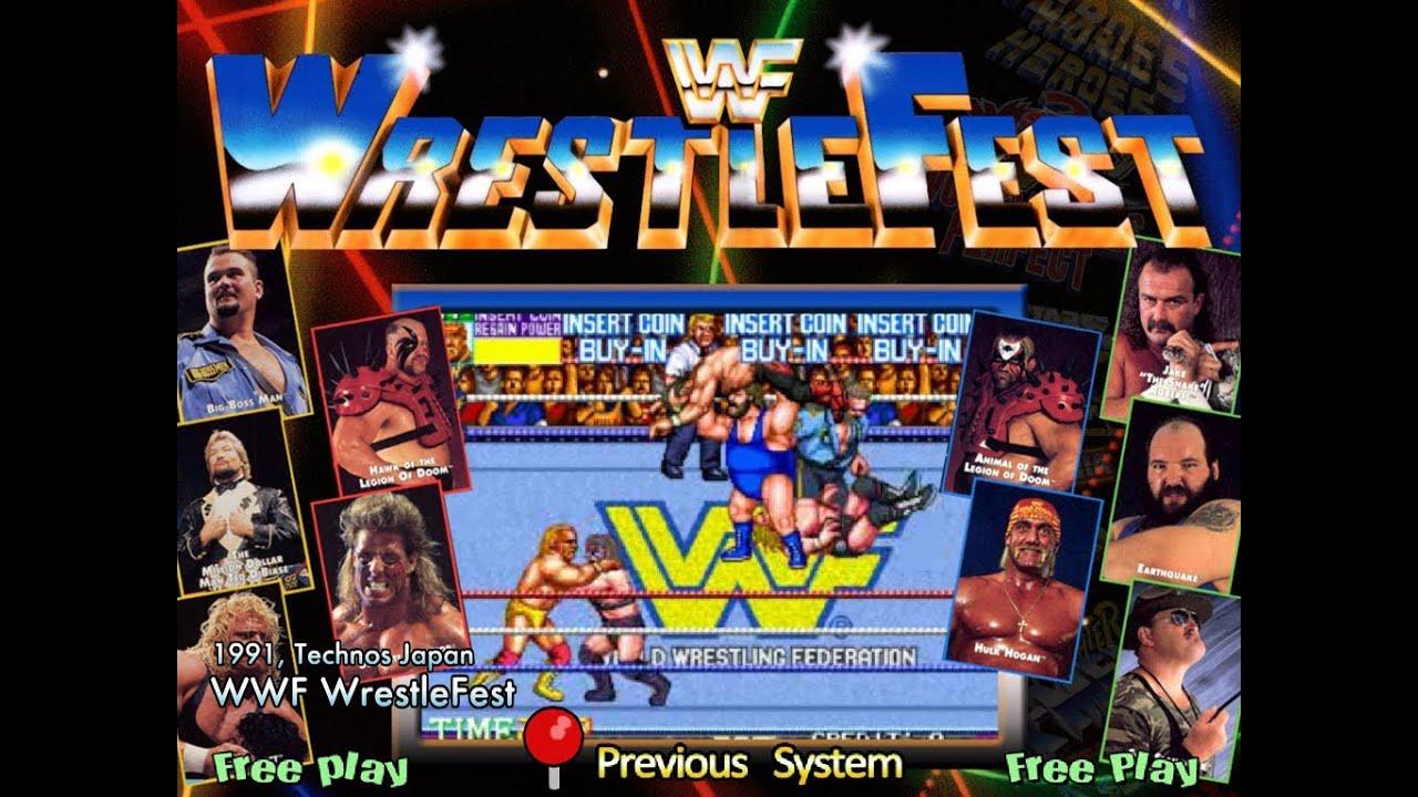 wwf wrestlefest arcade game
