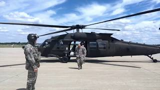 Flying in a Blackhawk Helicopter