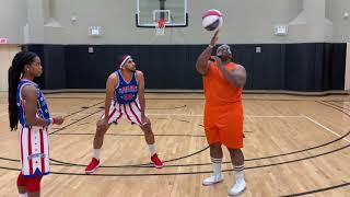 Cream Biggums tries out for the Harlem Globetrotters