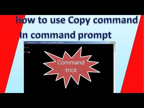 how to use copy command in dos