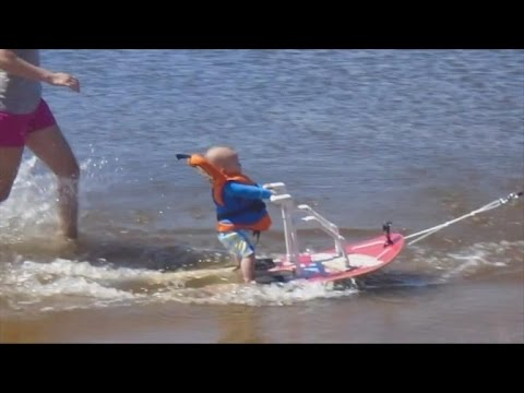 Dad Defends Training His 6-Month-Old Son Who Was Born Premature To Water Ski