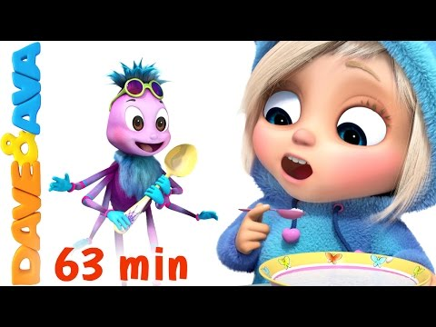 Thumbnail: ☀️️ Little Miss Muffet | Nursery Rhymes Collection | Finger Family Songs from Dave and Ava ☀️️