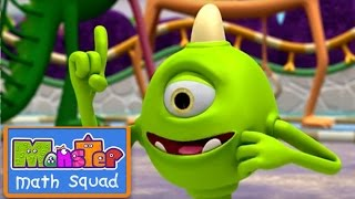 Monster Math Squad |  FULL EPISODE  | Monster Hopscotch | Learning Numbers Series