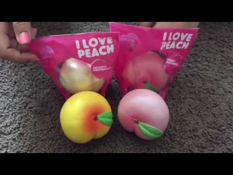 Rare Squishy Giveaway : IBLOOM squishy shop review (Peach & Shortcake) - Deliteful Boutique FunnyCat.TV