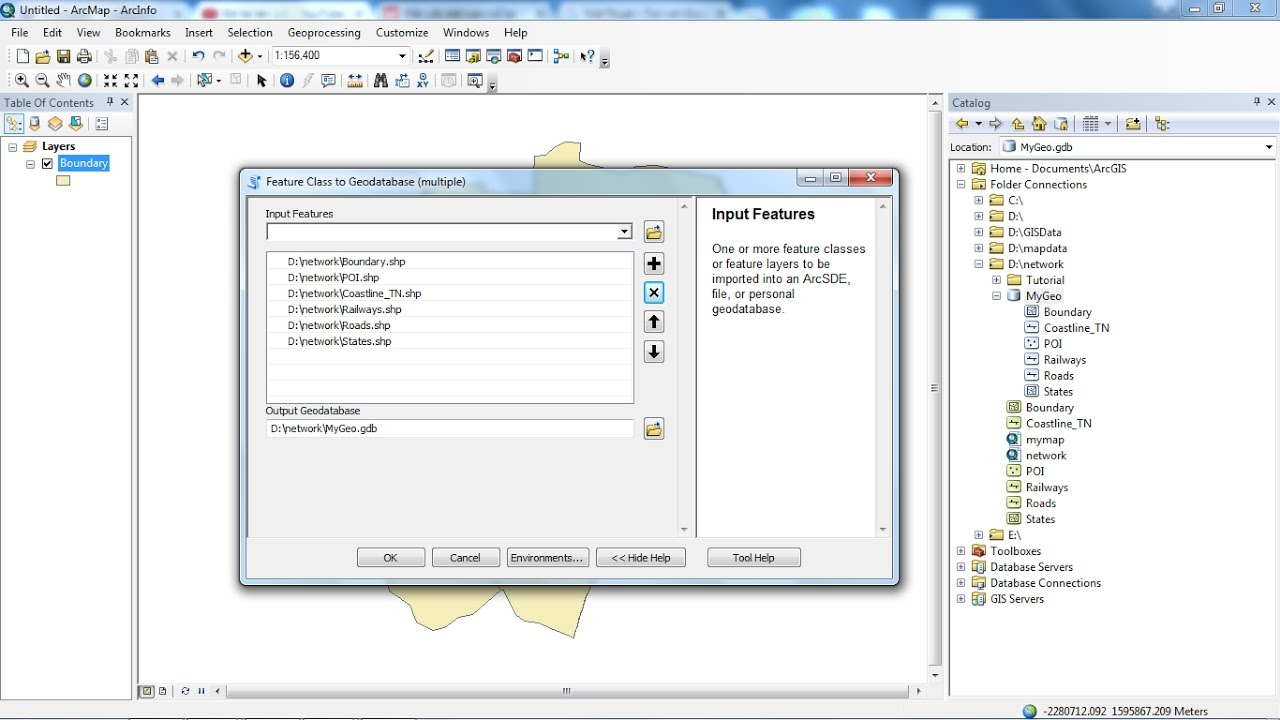 convert shapefile to geodatabase in ArcGIS