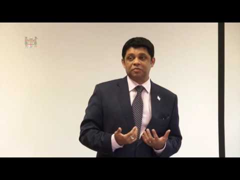 Fijian Attorney-General delivers Keynote Address at Pacific Leadership Program Session