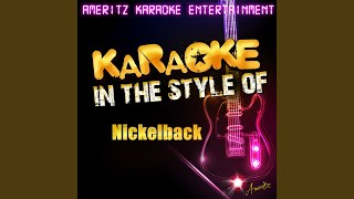 Never gonna be alone (in the style of nickelback) (karaoke version)