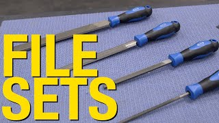 4 Piece & 6 Piece File Sets - Quality Tools for Removing Burrs in Metal - Eastwood