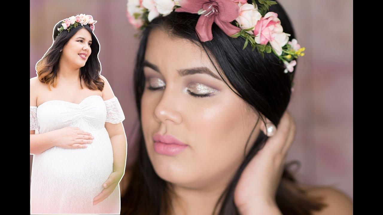 172688bf1 Maquillaje para Baby Shower y Fotos de Maternidad - YouTube