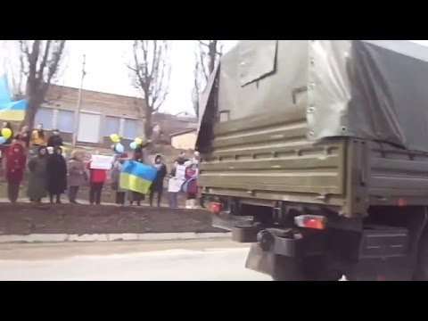 Ukraine War - Crimean tatars protest against Russian intervention in Crimea Ukraine