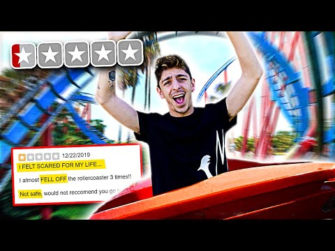 Riding the WORST REVIEWED Roller Coasters in my City! **bad idea**