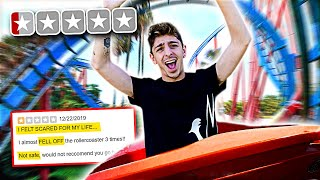 Download Riding the WORST REVIEWED Roller Coasters in my City! **bad idea** Mp3 and Videos