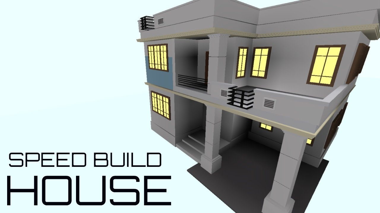 Roblox speed build house f3x building youtube for How to go about building a house
