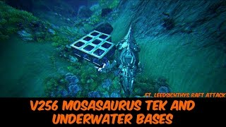 Ark Update 256 Mosasaur Tek Saddle AND Underwater Bases! Ft. Leedsichthys Raft Attack!