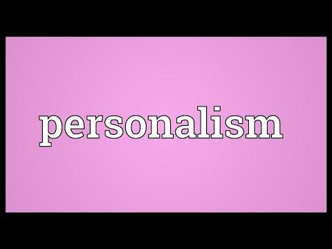 Header of personalism