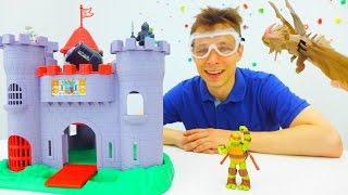 Видео для детей. Фёдор и черепашка ниндзя путешествуют во времени. Обзор игрушек.