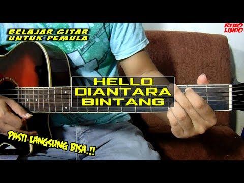 HELLO -  DI ANTARA BINTANG (tutorial Kunci Gitar)