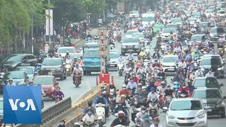 Rush Hour Traffic Back in Hanoi After COVID19 Social Isolation