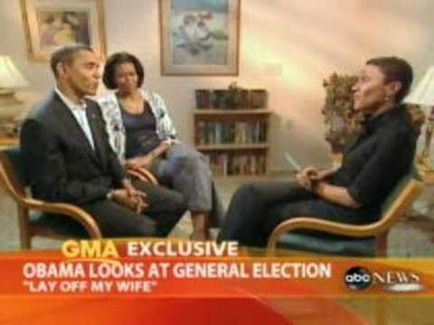 Obama Says 'Lay Off My Wife'