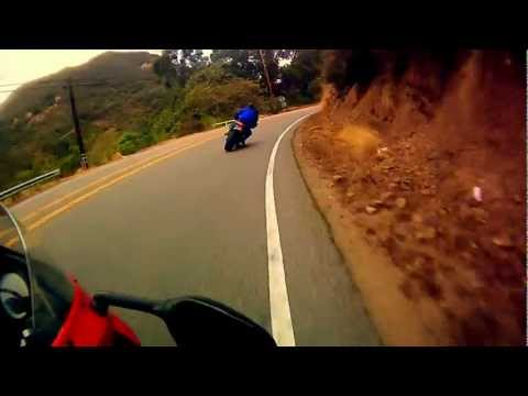Fast Ride Through Topanga Canyon