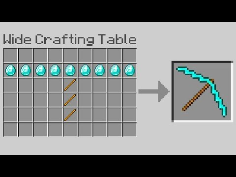 Minecraft, But Crafting Is Wide…