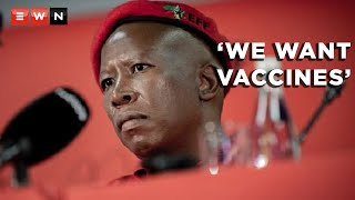 EFF leader Julius Malema says that a picket will be staged at the offices of the South African Health Products Regulatory Authority to demand that they approve vaccines from Russia and China. Malema says this will assist the country vaccinate more people faster.