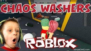 Roblox: Chaos Washers - Thumbing in WASHING MACHINES! | KID GAMING