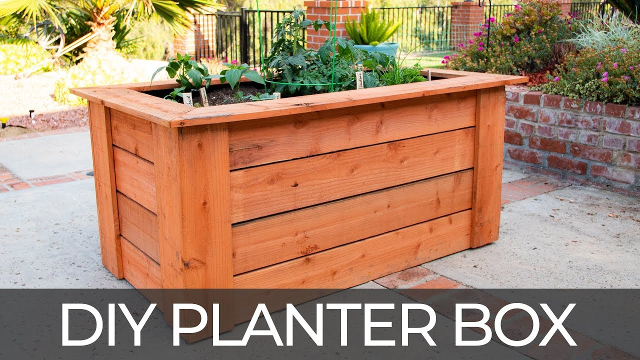 Diy Raised Planter Box W Hidden Wheels Free Plans How To